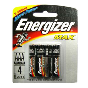 Energizer LR03-4BP(AAA 1.5V Max) + 4개입